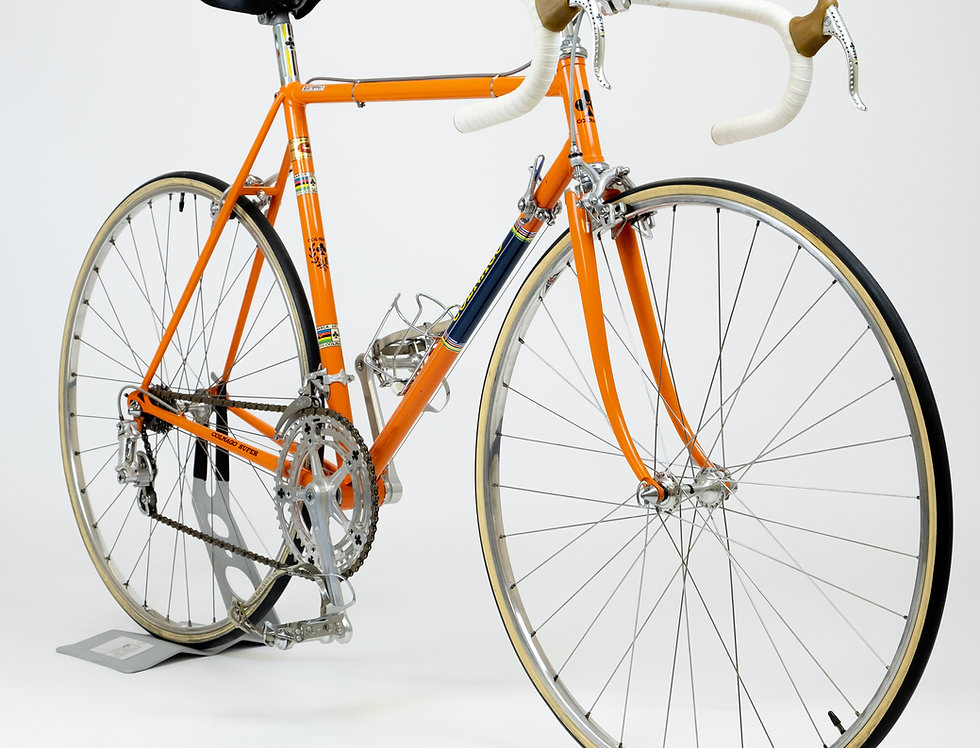 Vintage Colnago Super Pantografata 1973 Bicycle Original Paint in Molteni Orange