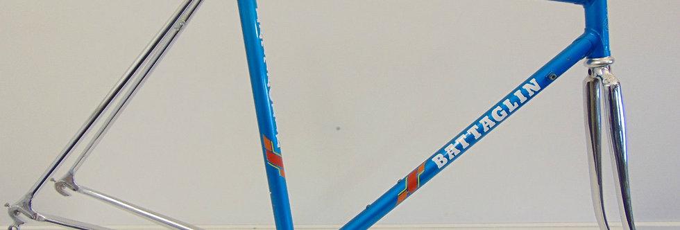 Vintage Italian Steel Battaglin Frame 52cm Campagnolo dropouts 1987