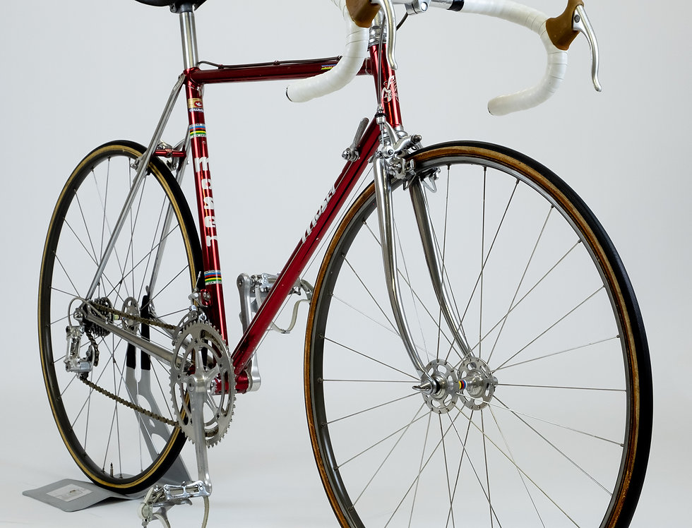 Vintage Steel F Moser Cromovelato (De-Rosa Built) Race Bike 54cm Columbus Campag