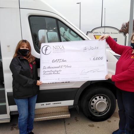 OATS Transit Receives Grant from Nixa Community Foundation