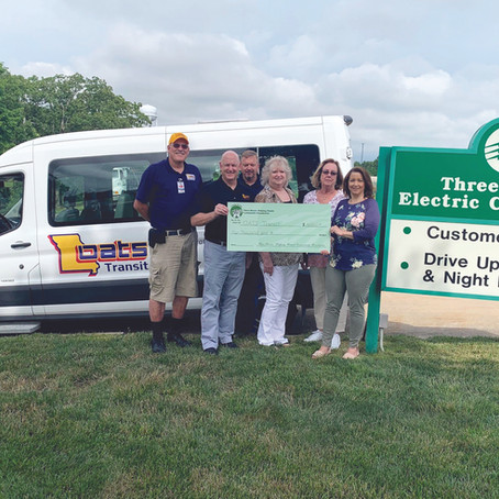 OATS Transit receives grant from Three Rivers Helping Hands Community Foundation