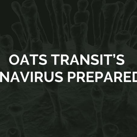 Message to the Public: OATS Transit's Coronavirus Preparedness