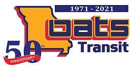 50th Anniversary for OATS Transit logo