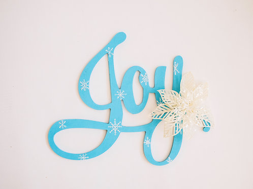 "Snowflake ""Joy"" Sign"