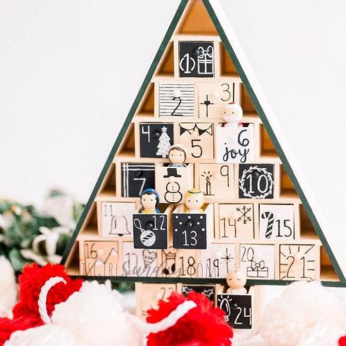 Advent Calendar w/ Dolls + Activity Cards