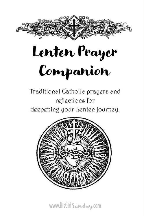 Lenten Printable Prayer Companion