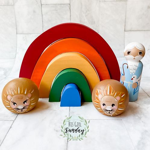 Noah's Traditional Rainbow Stacker Set