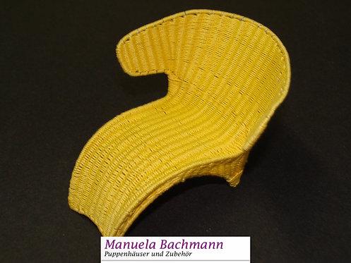 Handgemachter Designersessel gelb