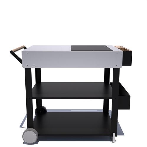 Ilot de cuisine mobile 90 cm Table de cuisson à induction
