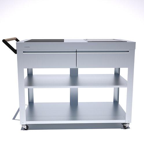 Cuisine mobile 114 cm Table de cuisson et Teppan Yaki à induction