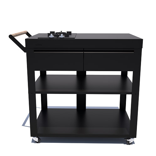 Ilot de cuisine 90 cm Table de cuisson à gaz