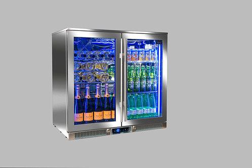 Réfrigérateur portes vitrées pour cuisines d'extérieur