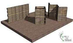 biombos e estruturas de palete