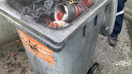 Müllbehälterbrand B1