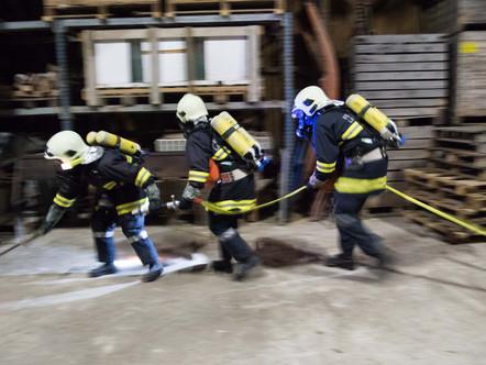Branddienstübung Herbst 2017