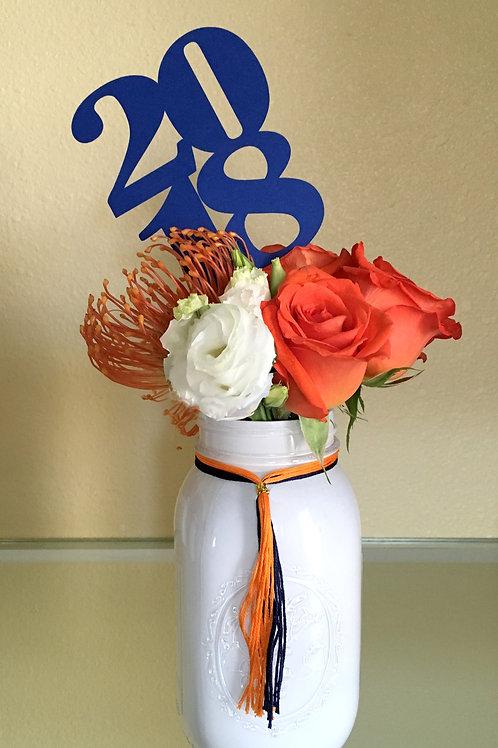 "Large Fresh Flowers ""Year"" Graduation Centerpiece"