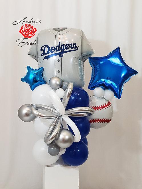 4 Ft Tall Dodgers Balloon Arrangement #2