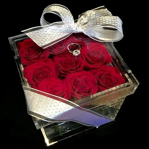 Petite Bloom Box (Silver Bow)