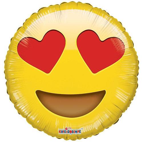 Hearts Emoji Round Balloon