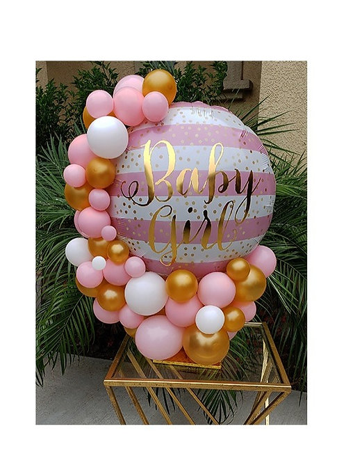 Baby Girl Balloon Centerpiece