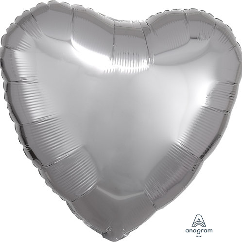 Silver Foil Heart Balloon