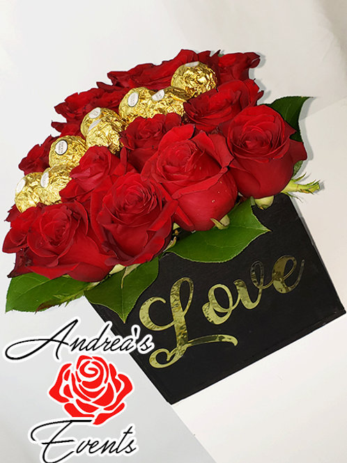 Black Box Roses & Chocolates