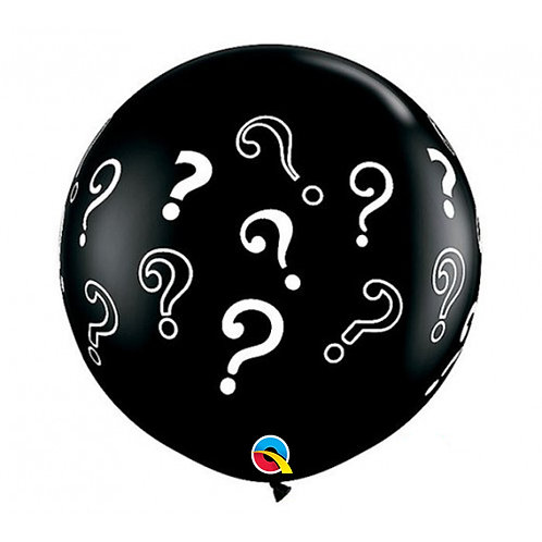 3 FT Round Question Marks Gender Reveal Qualatex