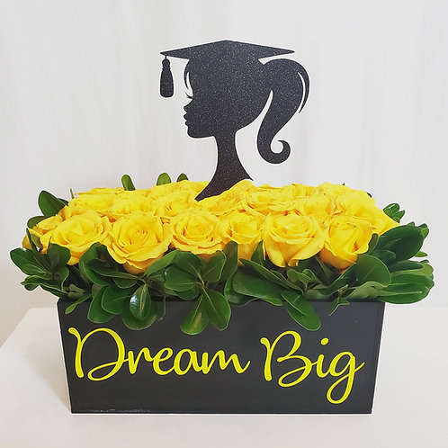 """Dream Big"" Rose Box Arrangement"