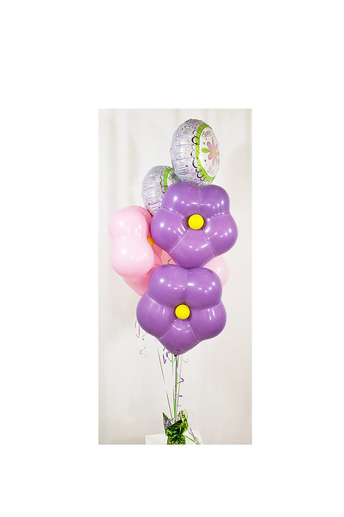 Geo Blossom Balloon Happy Mother's Day Bouquet