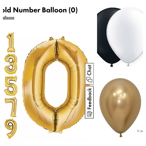 """""""65"""" number balloons and (3) 15 balloons order"""