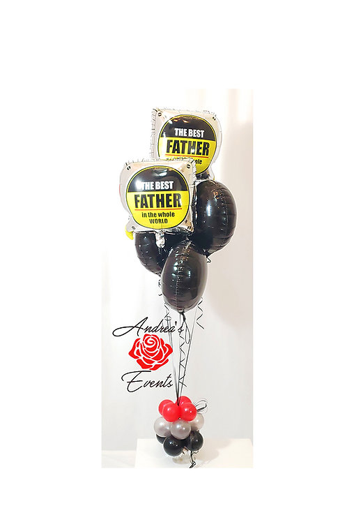 The Best Father in the Whole World Measuring Tape Balloon Boquet