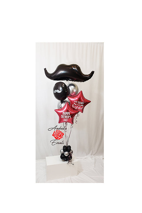 "35"" Mustache Mylar Balloon Arrangement #1"