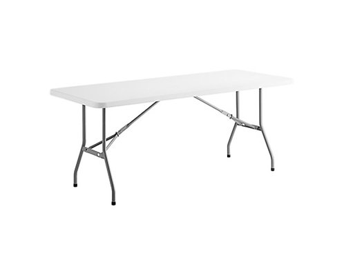 """White 6"""" Rectangle Table"""
