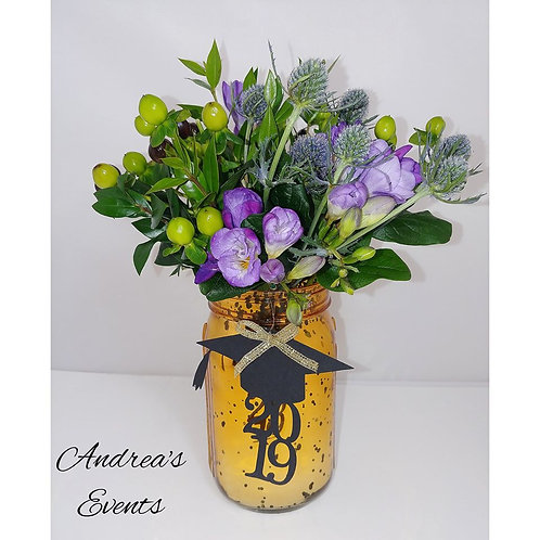 Large Mason Jar Arrangement Fresh Flowers Design #4
