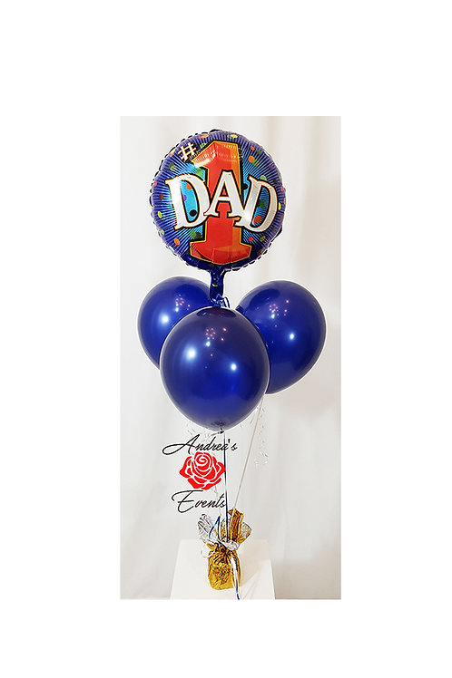 #1 DAD Mylar and Latex Balloon Bouquet #10