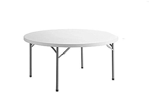 """60"""" White Round Table"""