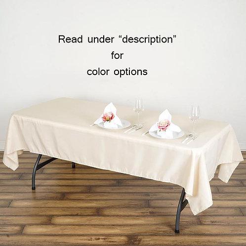 "60""x 102"" Polyester Rectangular Tablecloth"