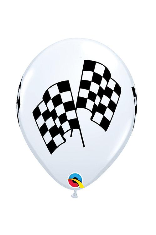 """11"""" Racing Flags Qualatex Balloon"""