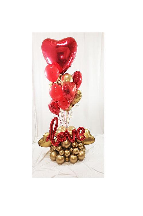 7-8 ft Love Balloon Arrangement