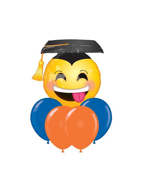 "26"" Graduation Emoji Balloon Bouquet"