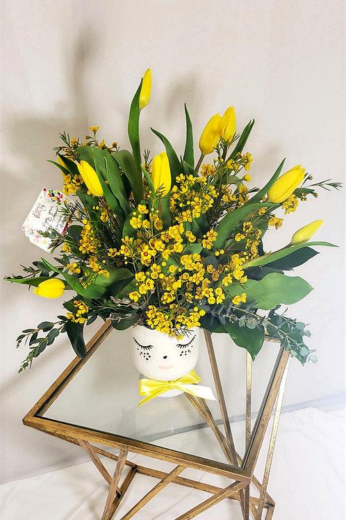 Yellow Tulips Arrangement