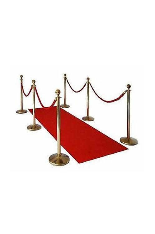 Red Carpet Runner & 6 Gold Poles