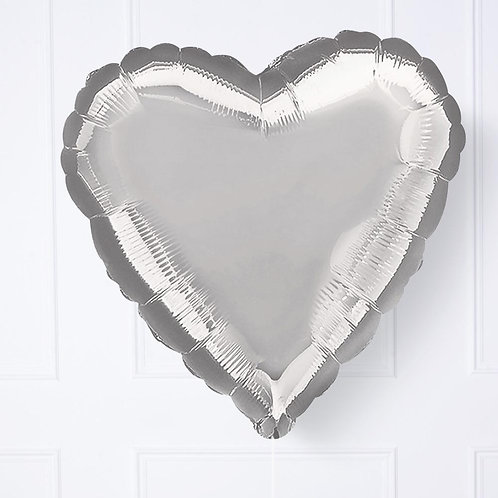 "18"" Silver Foil Heart Balloon"