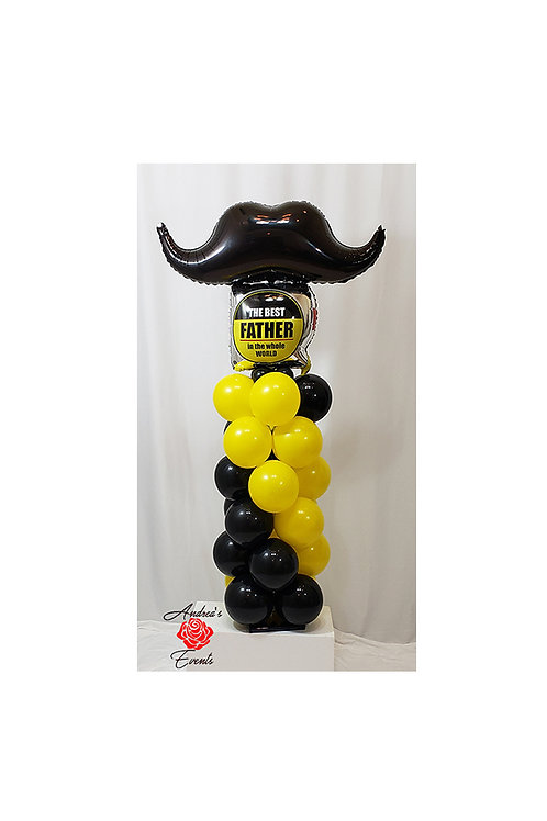 5 FT Mustache Mylar Balloon Column  #2