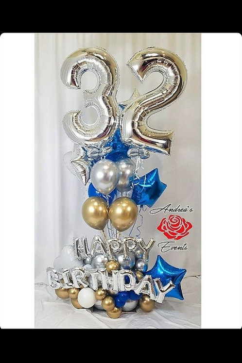19th birthday balloon arrangement