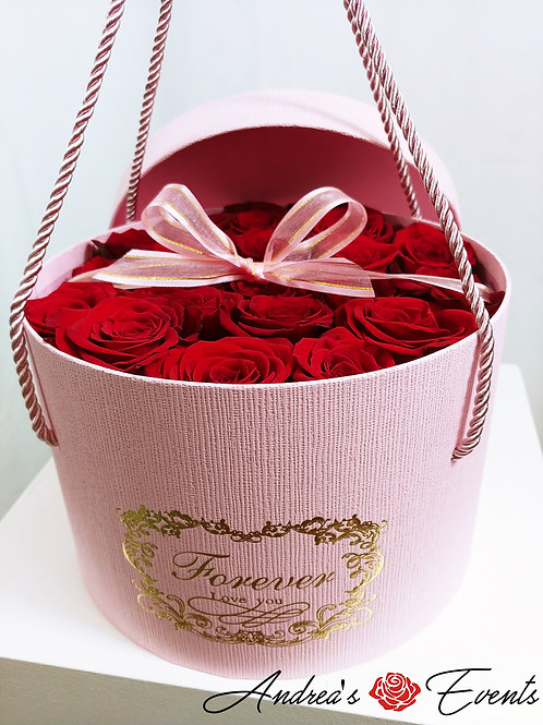 Small Pink FOREVER LOVE YOU Round Box