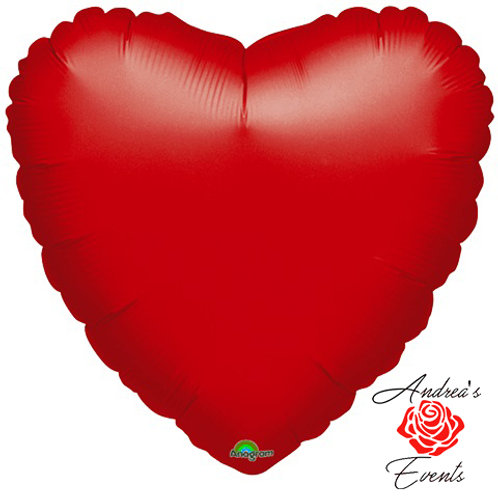Helium Filled Foil Red Heart Balloon
