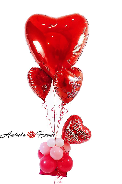 Giant Happy Valentine's Day Balloon Stand