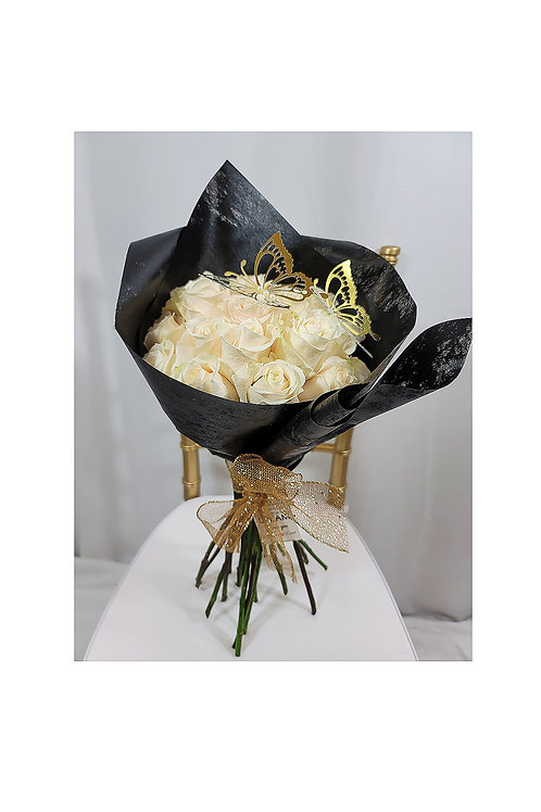 Pure Love Ivory Roses Bouquet
