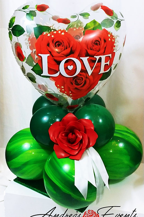 Love & Roses Balloon Stand